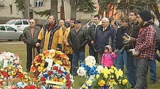 The ceremony at Riel's gravesite was held on Nov. 16, 2010.