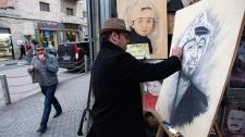 Arafat painting