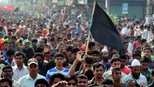 Protest in Dhaka, Bangladesh on Nov. 27, 2012.