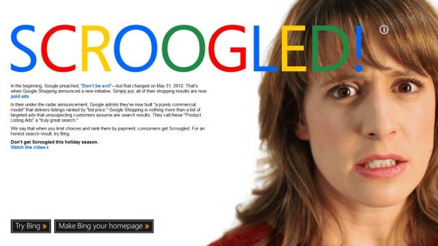 Microsoft attack ad Google