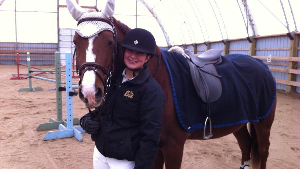 Darby Delle Donne, a provincial equestrian champion.
