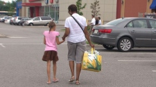 Tests performed by CTV News have revealed that reusable shopping bags used by four retailers in B.C. all contain small amounts of lead. Nov. 17, 2010. (CTV)