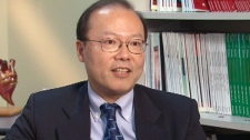 Dr. Peter Liu, a cardiologist at the Peter Munk Cardiac Centre in Toronto, speaks to CTV News in this undated photo.