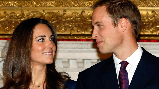 Prince William and his fiancee Kate Middleton pose for the media at St. James's Palace in London, Tuesday Nov. 16, 2010, after they announced their engagement. (AP / Kirsty Wigglesworth)