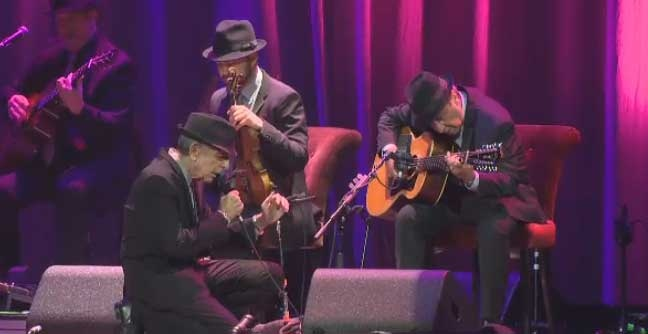 Leonard Cohen was full of emotion during his show at the Bell Centre Nov. 28, 2012