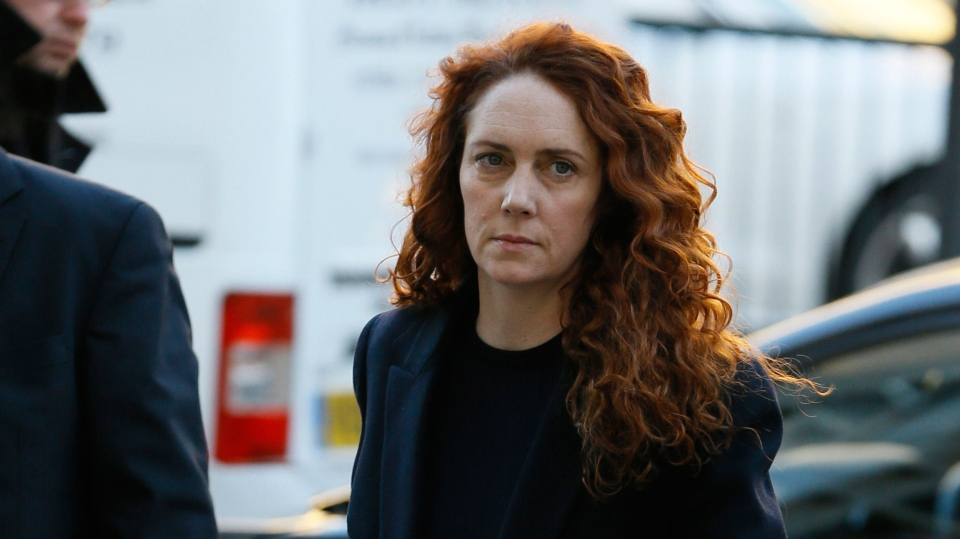 Rebekah Brooks, former News International chief executive arrives at Westminster Magistrates Court in London, where she is facing charges linked to alleged bribery of public officials,Thursday, Nov. 29, 2012. (AP / Kirsty Wigglesworth)