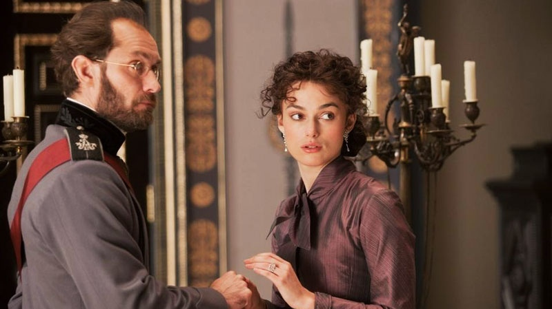 Jude Law and Keira Knightley in Alliance Films' 'Anna Karenina'