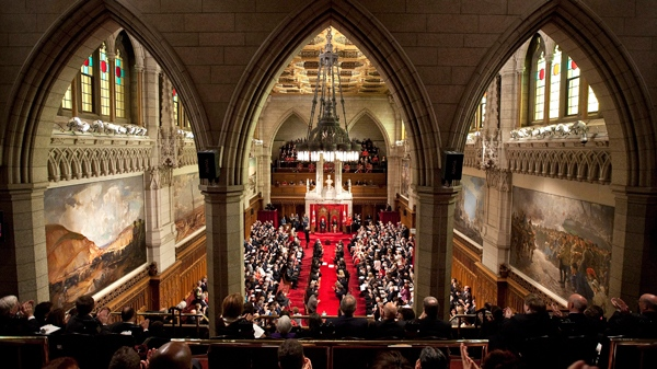 The Senate Chamber in Ottawa, Friday, Oct. 1, 2010. (Adrian Wyld / THE CANADIAN PRESS)