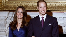Prince William and his fiancee Kate Middleton pose for the media at St. James's Palace in London, Tuesday, Nov. 16, 2010. (AP / Kirsty Wigglesworth)