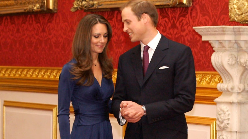 Prince William and his fiancee Kate Middleton arrive for a media photocall, media at St. James's Palace in London, Tuesday, Nov. 16, 2010. (AP / Sang Tan)