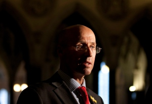 Kevin Page, Parliamentary budget officer, on Parliament Hill in Ottawa on Thursday, April 26, 2012. (Adrian Wyld / THE CANADIAN PRESS)
