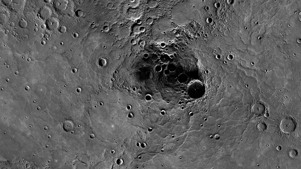 Ice at Mercury's north pole