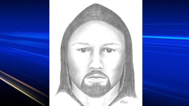 Groping suspect composite sketch