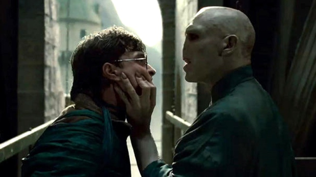 Daniel Radcliffe and Ralph Fiennes in Warner Bros. Pictures' 'Harry Potter and the Deathly Hallows - Part 1'