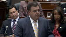 Ontario Finance Minister Dwight Duncan makes an announcement during question period on Thursday, Nov. 18, 2010.