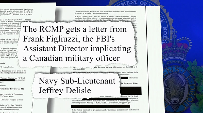 Classified documents were released showing that Americans called attention to a Canadian's spy activity.