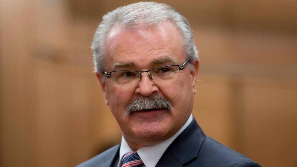 Agriculture Minister and Agri-Food and Minister for the Canadian Wheat Board Gerry Ritz waits to appear at the Commons committee in Ottawa on Thursday, Nov. 29, 2012. (Adrian Wyld / THE CANADIAN PRESS)