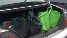 Testing performed by CTV News uncovered lead in reusable bags used by four retailers. Nov. 18, 2010. (CTV)