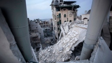 Aleppo Syria destroyed clashes internet cut out