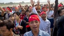 Aung San Suu Kyi crackdown protesters Myranmar
