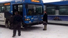 incident involving a bus driver and pedestrian