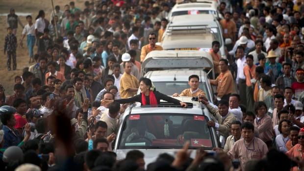 Aung San Suu Kyi Myanmar protest crackdown