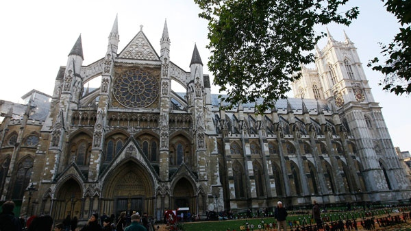 The north side of Westminster Abbey is seen in London, Thursday, Nov.18, 2010. Westminster Abbey emerged today as the firm favorite to be the venue of Prince William's wedding after being visited by his bride-to-be, Kate Middleton. (AP / Alastair Grant)