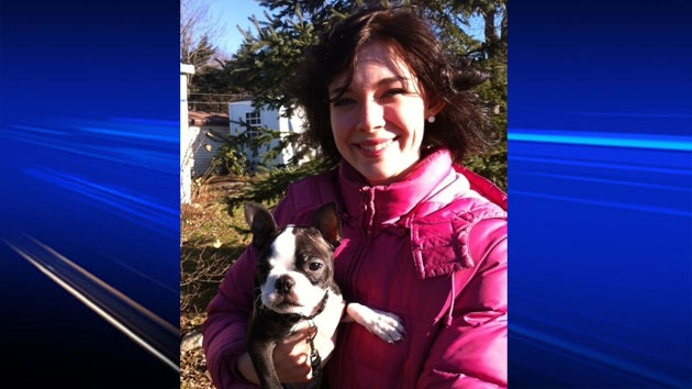Xiaobao is happy to be back home with her owner, Ashley Hills. The Boston Terrier was returned to her Timberlea, N.S. home Thursday night.