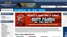 Cineplex Odeon launches digital movie download store.