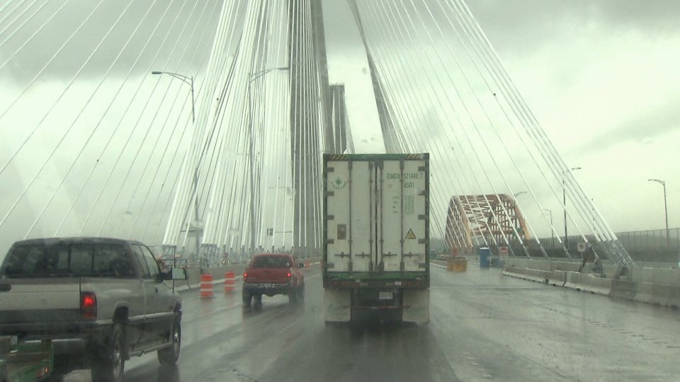 Eight lanes will open on the new Port Mann Bridge on Saturday, Dec. 1, 2012. (CTV)