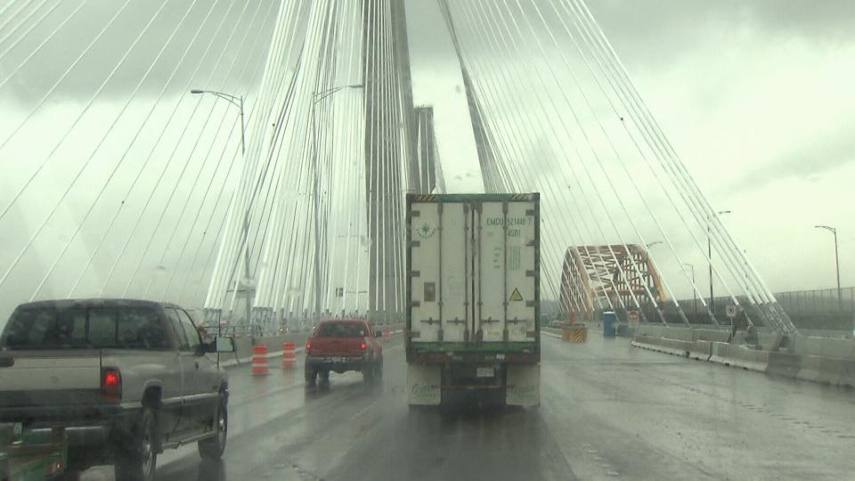 Eight lanes will open on the new Port Mann Bridge on Saturday, Dec. 1, 2012. (CTV)