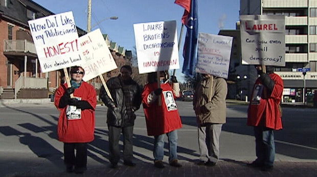 Teachers protest as Ontario braces for a province-wide walkout.