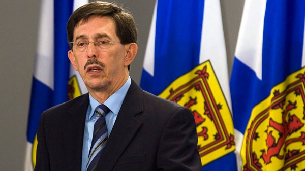 Nova Scotia Auditor General Jacques Lapointe fields questions at a news conference in Halifax on Wednesday, Nov. 17, 2010. (Andrew Vaughan / THE CANADIAN PRESS)