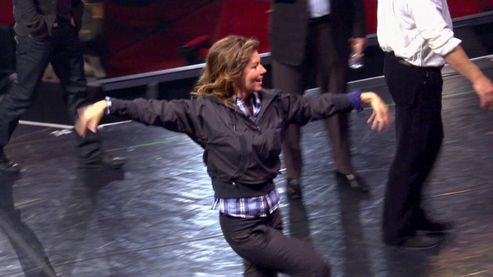 Shania Twain is seen dancing on stage as she gets ready for her new Las Vegas show 'Still the One'.