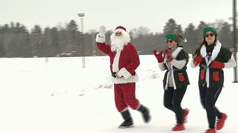 It's the 22nd year for The Salvation Army Santa Shuffle fundraiser walk/run. About 500 Edmontonians dressed up Christmas colours and costumes to take part, raising money to help those in need.