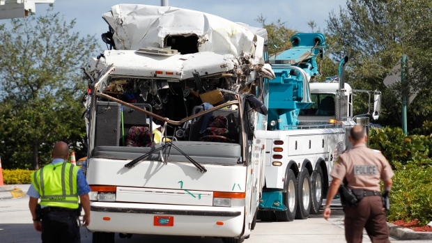 Bus crash at Miami Int'l Airport, Dec. 1, 2012.