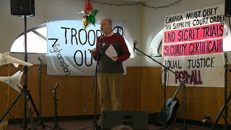 Jim Gurnett was one of the founding members of the Edmonton Coalition Against War and Racism, and on Saturday, he came together with the group to mark its 10-year anniversary.