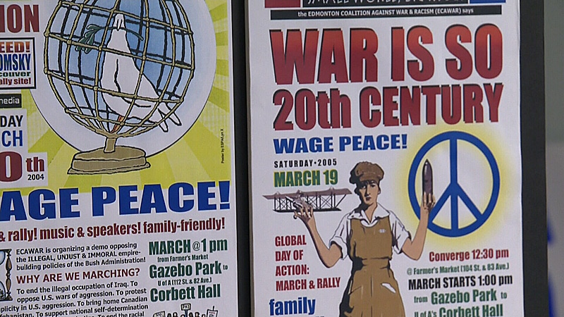 The Edmonton Coalition Against War and Racism celebrated its 10-year anniversary on Saturday.