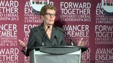Ontario Liberal leadership candidate Kathleen Wynn
