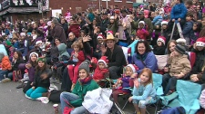 Toronto's Santa Claus parade draws huge crowds, so make sure you arrive early.