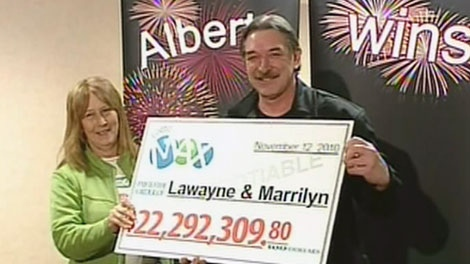 Lawayne and Marrilyn Musslewhite celebrate their $22 million lottery win.