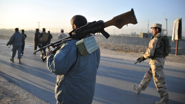 Afghan security forces in Jalalabad, east of Kabul