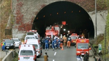 Highway tunnel collapses in Japan