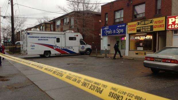 Forensic van at scene of suspicious death.