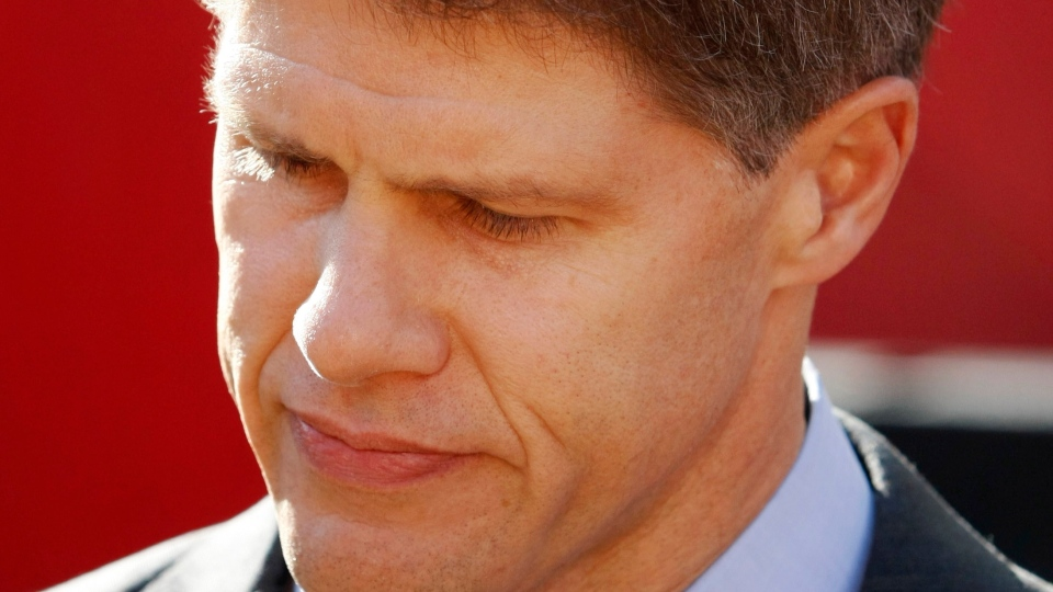 Kansas City Chiefs owner Clark Hunt pauses while talking to reporters before an NFL football game against the Carolina Panthers at Arrowhead Stadium in Kansas City, Mo., Sunday, Dec. 2, 2012. (AP / Colin E. Braley)