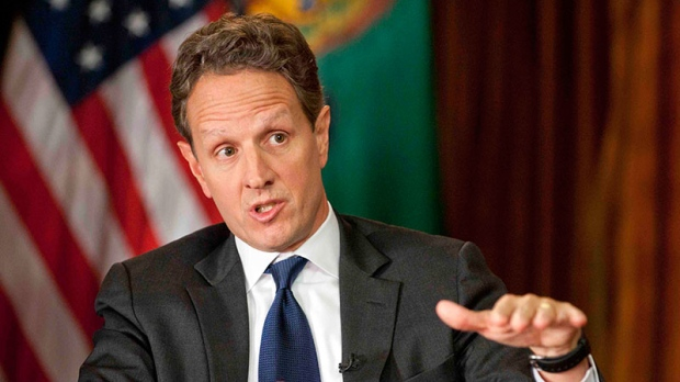 Timothy Geithner speaking on fiscal cliff