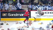 Hitmen teddy bear toss Dec 2