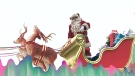 It should take about 90 minutes from the time the Santa Claus parade starts on Sunday, Nov. 21, 2010 until St. Nick first appears.