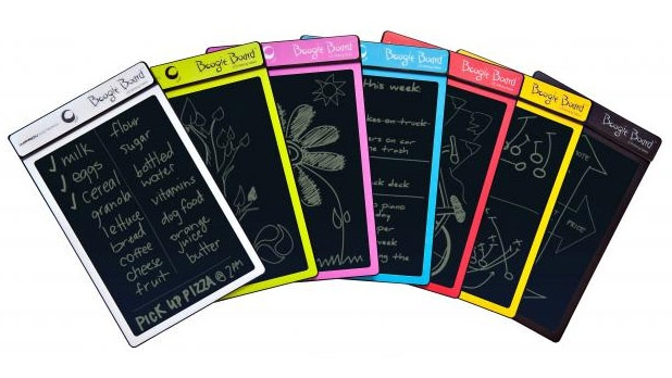 Boogie Board LCD Writing Tablet: Play, learn, draw, write and create with your paperless Boogie Board LCD Writing Tablet! You can use the included stainless steel stylus, any other suitable instrument or even your finger on this super-light and thin