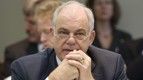 CRTC chairman Konrad von Finckenstein waits to appear before the Commons heritage committee in Ottawa, Thursday November 18, 2010. (THE CANADIAN PRESS/Adrian Wyld)